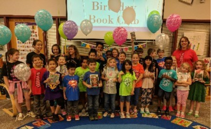 Picture of students in Birthday Book Club